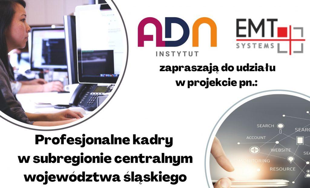 Zaproszenie na BEZPŁATNE SZKOLENIA KOMPUTEROWE – MS EXCEL – Profesjonalne kadry w subregionie centralnym województwa śląskiego