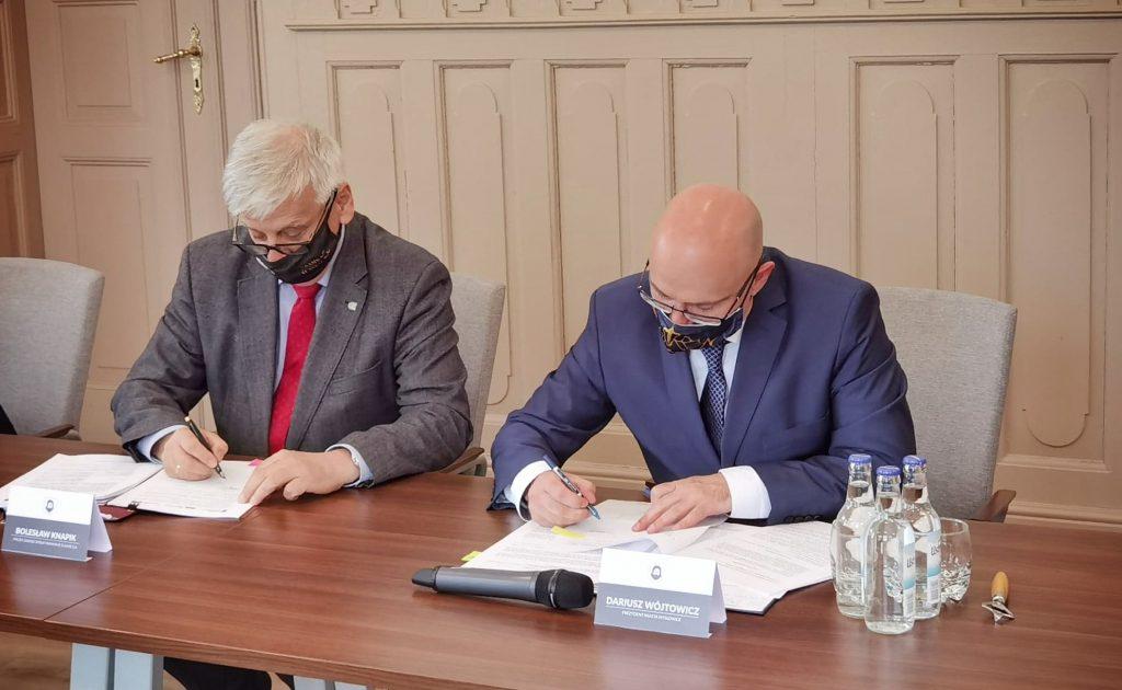 Podpisanie umowy dot. modernizacji infrastruktury torowo-sieciowej na linii tramwajowej nr 14 w Mysłowicach
