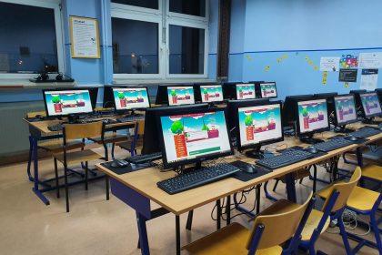 Terminalowa pracownia komputerowa w Szkole Podstawowej nr 17